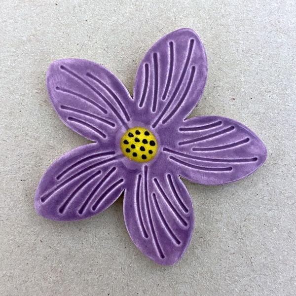 MOSAIC INSPIRATION - 60mm Ceramic Flower Mosaic Inserts Mosaic Tiles www.mosaicinspiration.com