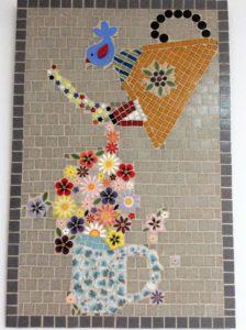 MOSAIC INSPIRATION Julies Teapot using Bird Flowers from www.mosaicinspiration.com