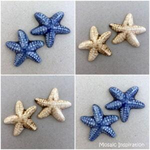 MOSAIC INSPIRATION Ceramic Starfish Mosaic Tiles Mosaic Inserts www.mosaicinspiration.com