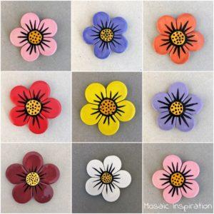 MOSAIC INSPIRATION - Ceramic Flower Mosaic Inserts Mosaic Tiles www.mosaicinspiration.com