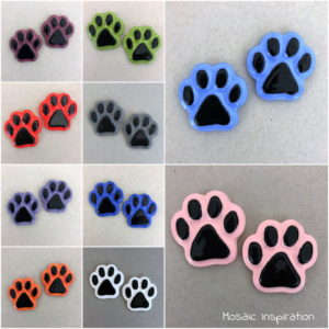 MOSAIC INSPIRATION Ceramic Paws Cat Paws Dog Paws Ceramic Mosaic Inserts www.mosaicinspiration.com
