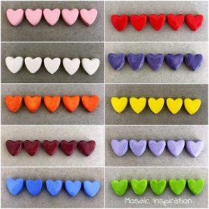 MOSAIC INSPIRATION Ceramic Hearts Mosaic Tiles Mosaic Inserts www.mosaicinspiration.com