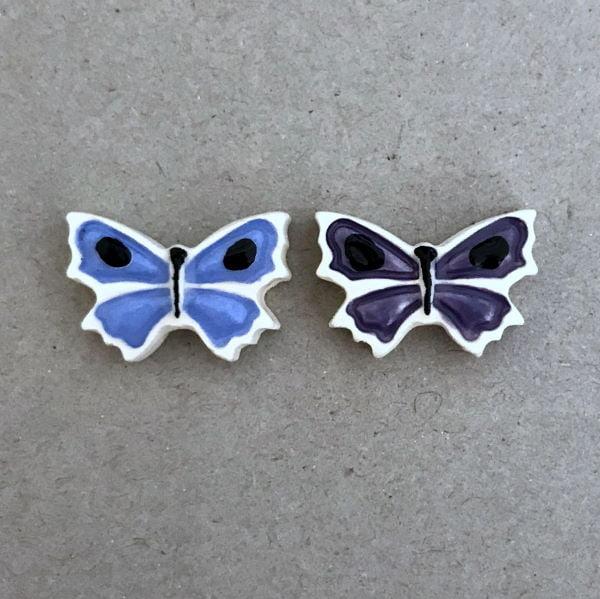 MOSAIC INSPIRATION 15x20mm Ceramic Butterflies Mosaic Tile Mosaic Inserts www.mosaicinspiration.com