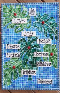 MOSAIC INSPIRATION - Sandras Fruit of the Spirit Mosaic, Ladybirds www.mosaicinspiration.com