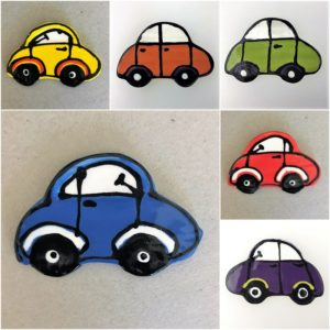 Ceramic Car Noddy Car Car Ceramic Mosaic Inserts Mosaic Tile www.mosaicinspiration.com