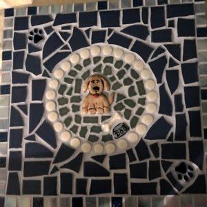MOSAIC INSPIRATION Vicki Dog Paws Bowl Bone www.mosaicinspiration.com