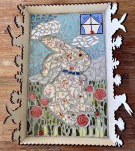 MOSAIC INSPIRATION Cressidas tray - window ladybirds roses www.mosaicinspiration.com