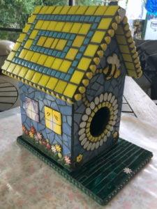 MOSAIC INSPIRATION Judys Bird House bees flowers