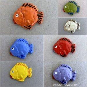 MOSAIC INSPIRATION Ceramic Fish 30x35mm Ceramic Mosaic Inserts www.mosaicinspiration.com