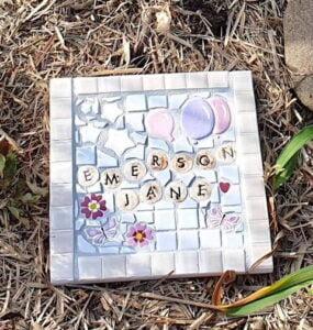 MOSAIC INSPIRATION Cressidas Mosaic - Cosmos Balloons Butterflies Letters
