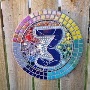 MOSAIC INSPIRATION - Vickie's Number 3 Mosaic - ladybirds, hearts, jasmine, flowers - www.mosaicinspiration.com